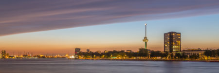 Rotterdam Skyline foto - Euromast en havens