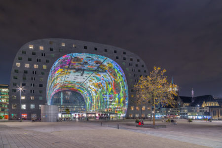 Rotterdam Skyline - Markthal by Night