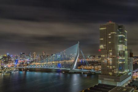 Rotterdam Skyline foto - Rotterdam van boven