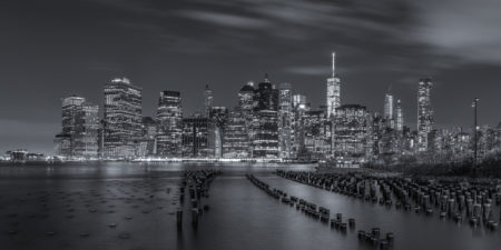 New York Skyline foto - Lower Manhattan vanuit Brooklyn