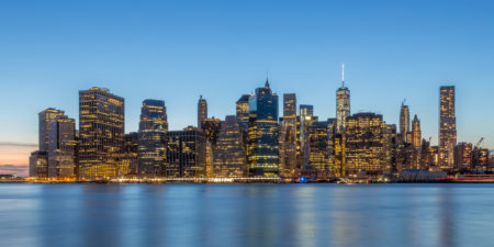 New York Skyline - Lower Manhattan vanuit Brooklyn