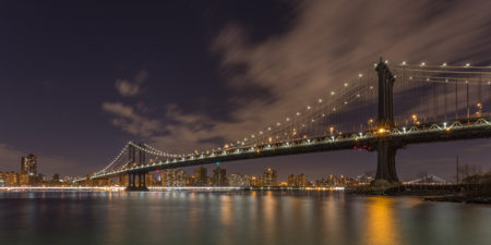 New York Skyline foto - Manhattan Bridge by Night