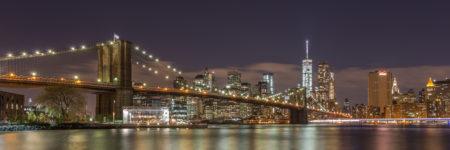 New York Skyline foto - Brooklyn Bridge by Night
