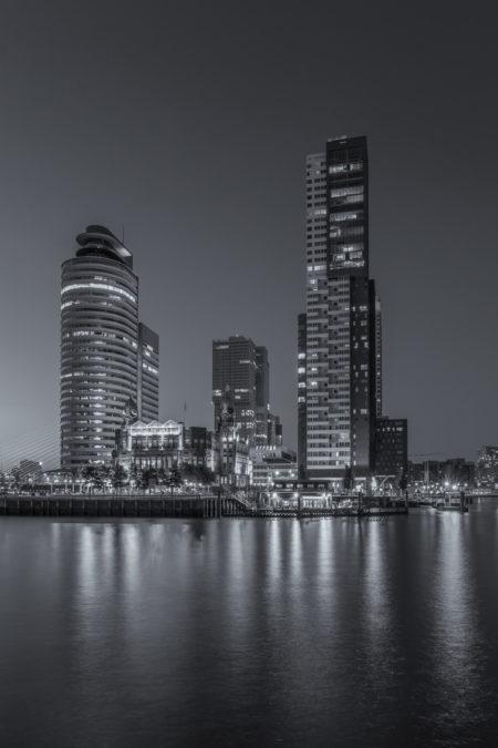 Rotterdam Skyline foto - Wilhelminapier