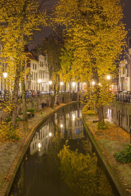Utrecht by Night - Nieuwegracht herfst