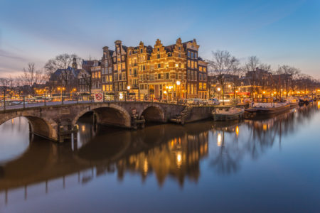 Amsterdam by Night foto - Papiermolensluis