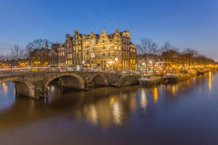 Amsterdam by Night foto - Papiermolensluis