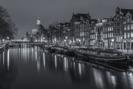 Amsterdam by Night foto - Singel