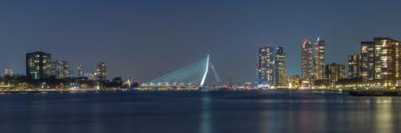 Rotterdam Skyline foto - Erasmusbrug