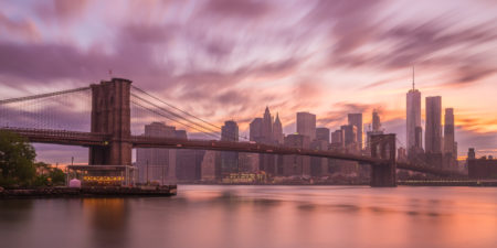 New York Skyline foto - Brooklyn Bridge