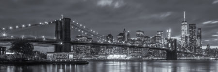 New York Skyline foto - Brooklyn Bridge in zwart-wit