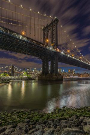 New York Skyline foto - Manhattan Bridge