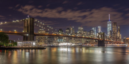New York Skyline foto - Brooklyn Bridge by Night