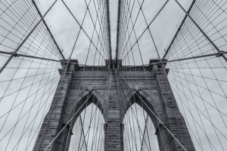 New York Skyline foto - Brooklyn Bridge Lines