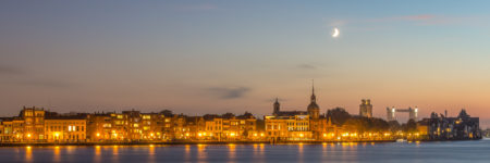 Dordrecht by Night foto - Skyline Dordrecht