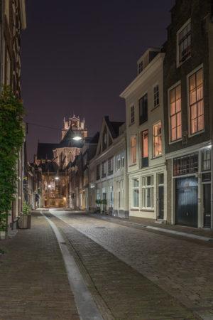 Dordrecht by Night foto - Grote Kerk Dordrecht