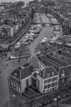 Dordrecht binnenstad foto - Dordrecht van boven
