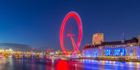 Londen by Night foto - London Eye