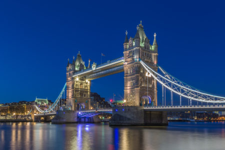 Londen by Night foto - Tower Bridge