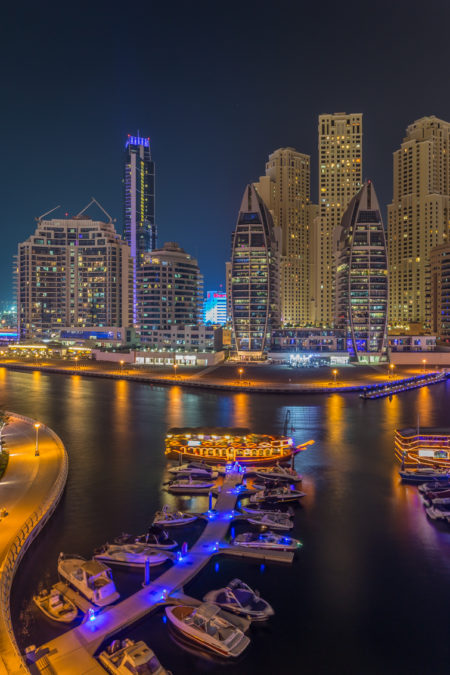 Dubai by Night foto - Dubai Marina | Tux Photography Shop