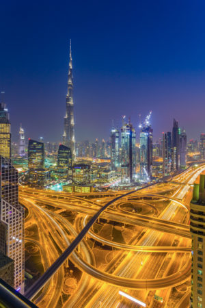 Dubai by Night - Burj Khalifa en Downtown Dubai | Tux Photography
