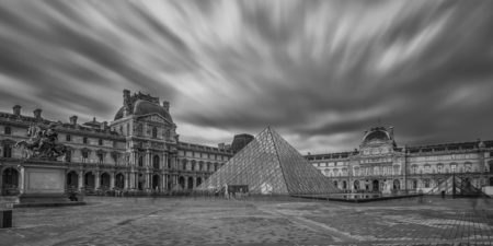 Parijs by Night foto - Louvre Museum | Tux Photography Shop