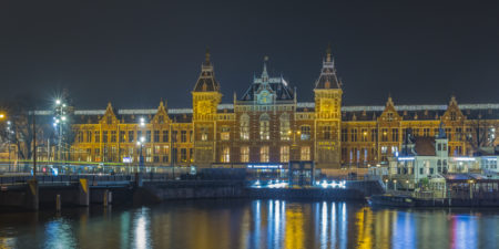 Amsterdam by Night foto - Amsterdam Centraal