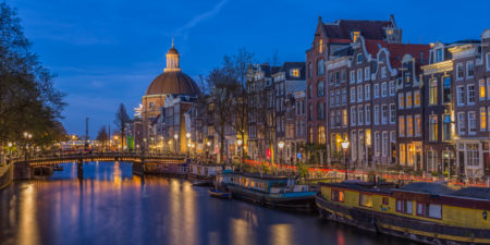 Amsterdam by Night foto - Singel | Tux Photography
