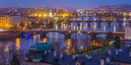 Uitzicht over de oude stad in Praag, Tsjechië | Tux Photography Shop