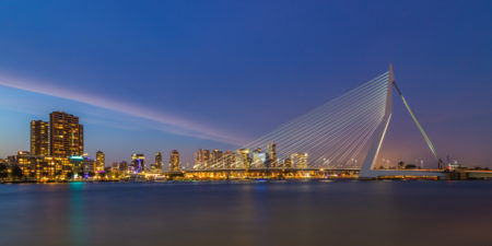 Rotterdam Skyline - Erasmusbrug by Night