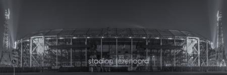Feyenoord Rotterdam Stadion de Kuip in zwart-wit