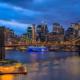 New York City Skyline - Uitzicht op de Brooklyn Bridge in de avond